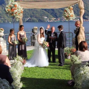 Jewish wedding in Lenno, Como lake